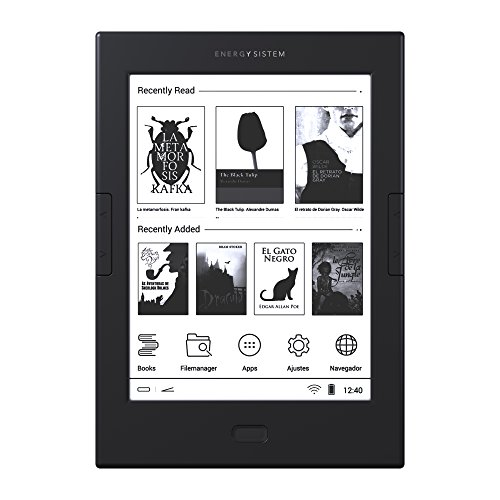 Energy Sistem eReader Max (6', E Ink, tattile, sistema anti-riflesso, Android, Wi-Fi, 8 GB, bottone laterale girare pagine) - Grigio