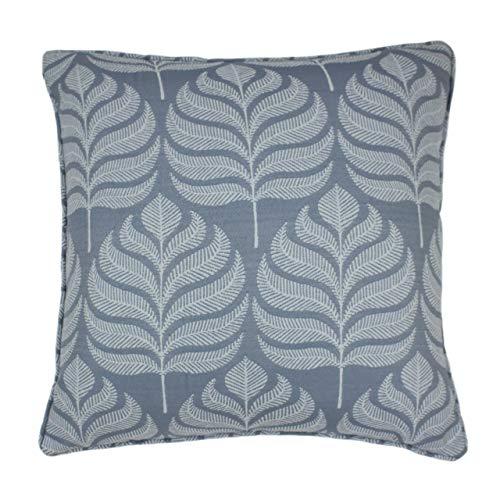 Paoletti Horto Feather Filled Cushion, Blue, 45 x 45cm