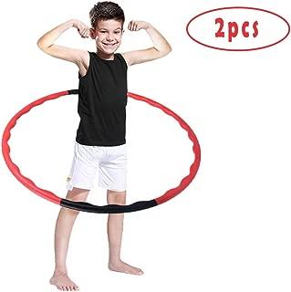 ComCreate Hula Hoop for Kids,2 Set Detachable Adjustable Weight Size Plastic Kid Hoola Hoop,Suitable for Hula Hoop Game,Fitness,Gymnastics,Dance and Pet Training