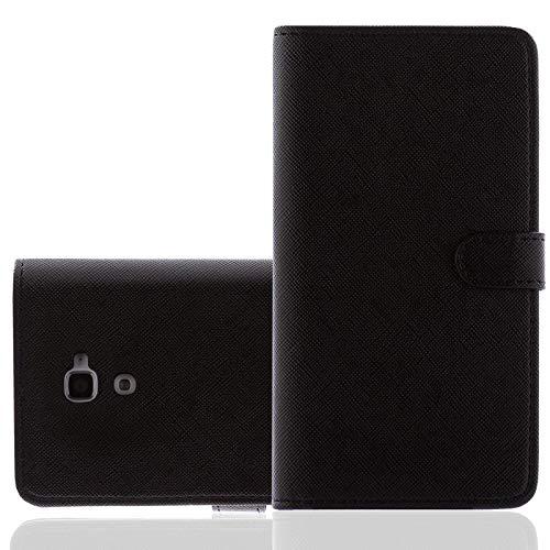 numerva Bookstyle Handytasche kompatibel mit Huawei Ascend P7 Schutzhülle PU Ledertasche für Huawei Ascend P7 Hülle mit Kartenfach Schwarz