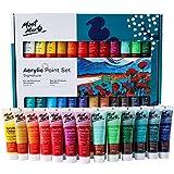 Mont Marte Premium Acrylfarben Set – 24 Stück, 36ml Tuben – Ideal für Acrylmalerei – Brillante Lichtechte Farben mit großer Deckkraft – Perfekt geeignet für Anfänger, Profis und...