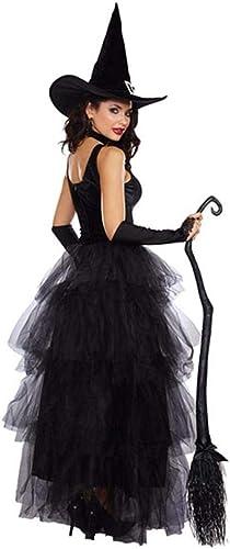 Olydmsky DeguiseHommest HalFaibleeen HalFaibleeen Noir Classique sorcière Debout Chapeau feuilletée Jupe sorcière Cosplay Costume