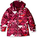 LEGO Wear Boys' Jacket with Detachable Hood, Dark Pink Print, 7 Years