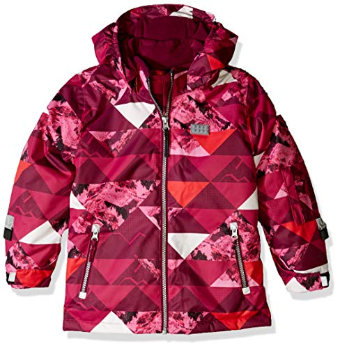 LEGO Wear meisjes LEGO Tec Play LWJOSEFINE 721-ski-jack/winterjack, roze (Dark Pink 496), (fabrikantmaat:158)