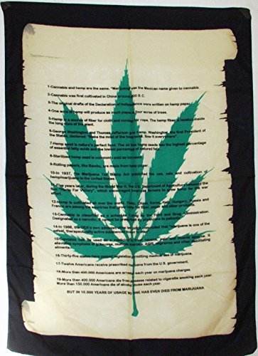 Cannabis Hanf Deklaration Poster-Fahne Poster Flag No. 159 Format 77 x 107 cm Polyester