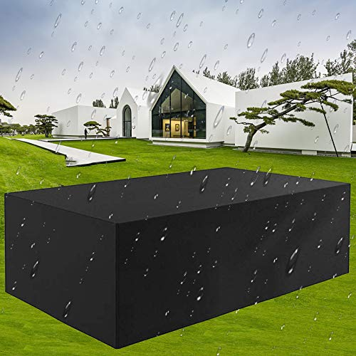 WONICE Garden Furniture Cover, Outdoor Furniture Covers, Patio Furniture Covers Waterproof Rectangular Windproof and Anti-UV Garden Table Covers (200x160x70cm)