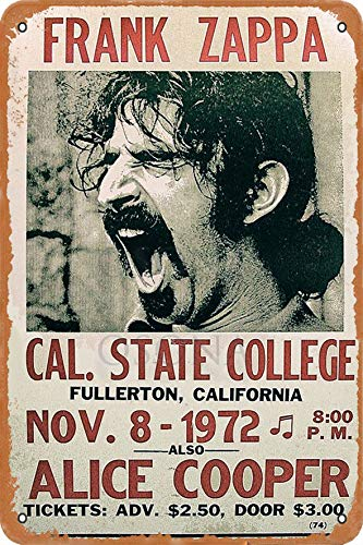 OSONA Frank Zappa Alice Cooper Retro Nostalgische Kunst Traditionelle Rostfarbe Zinn Logo Werbung Markante Wanddekoration Geschenk