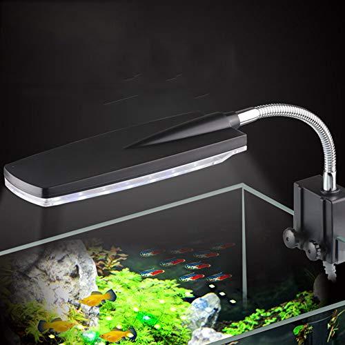 XXDYF Iluminacion LED para Acuarios, Poderosa Iluminación LED de Clip para Acuarios Plantados Lámpara LED para Acuarios, Luz Blanca y Azul,Amd1(3w)