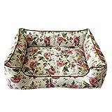 MOKOS ペットベッド 犬 猫 ベッド クッション 洗える 肌触り良く   ペット用寝袋 ペット用品 (白)