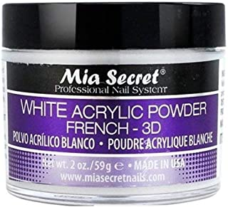 Mia Secret White French - 3D Acrylic Powder 2 Oz