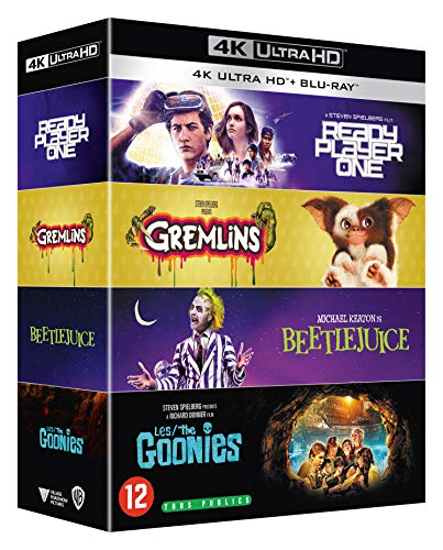 Coffret années 80 4 films : les goonies ; gremlins ; beetlejuice ; ready player one 4k ultra hd