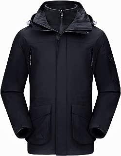 CAMEL CROWN Men's Waterproof 3-in-1 Ski Jacket Windproof...