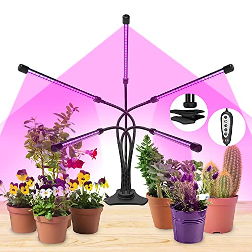 Grow Lights Plant Light for Indoor Plants Lamps Auto ON/Off Timer (5 Heads)