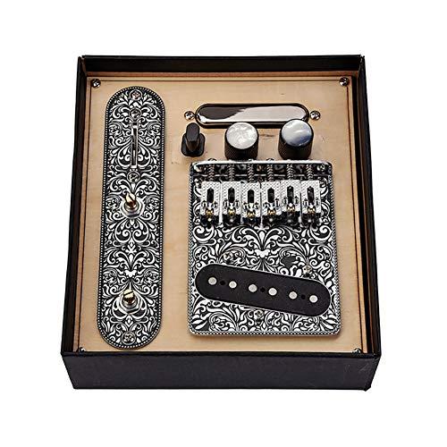 Gitarren Tonabnehmer Set Gitarre Telecaster Pickups Gitarren-Ansatz Telecaster Pickups mit 6 String Sattelstegplatte für Telecaster E-Gitarre