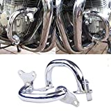 Motocicleta molduras Chrome Crash Bares Motor Guardia Fit for Honda CB750 F2 Seven Fifty RC42 93 94 95 1992 96 97 98 99 00 01 02 03 04 05 06 07 2008