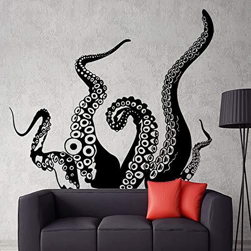 TONGTONG Octopus Kinderzimmer Wandaufkleber Wandbild PVC Aufkleber für Wohnzimmer Sofa Badezimmer Art Deco Videospiel Wandbild,S
