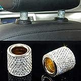 LLLKKK. Sedile Rod Diamond Ring Car-Styling Auto di Cristallo Auto Ornamento Sedile poggiatesta Collare Decor di modellatura (Color Name : Beige)