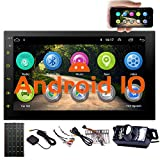EINCAR 7 Inch Android 10.0 Car Stereo with GPS Navigation Double Din Car Radio Bluetooth Stereo Radio Receiver 2Din Headunit with Backup Camera Support WiFi Mirror Link for Android/iOS Phone USB Input