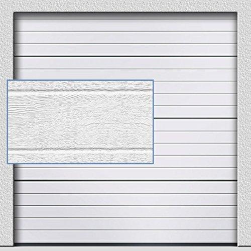 Sektionaltor in klassischem weiß 2500 mm x 2125 mm