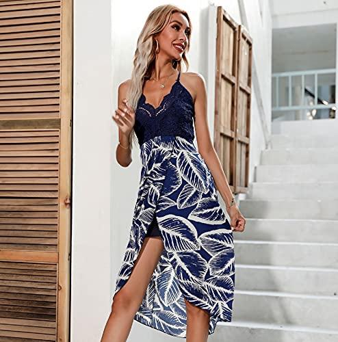 UMIPUBO Trajes de Baño Cubrir Mujer,sin Tirantes Pareos Playa Vestido Mujer Sexy Ropa de Playa de Verano Bikini Cover Up Vestido de Playa Bikini Cubrir (Azul, M=ES36)
