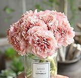 EasyLife 5.5 * 10.2 pulgadas, 5 botones florales, flores artificiales de peonía, 3 piezas por juego, flores para la boda, decoración para la decoración de la boda, oficina, hotel, decoración del hogar