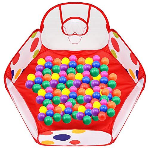 Ball Pit Play Carpa para niños, plegable de 6 lados Pop Up...