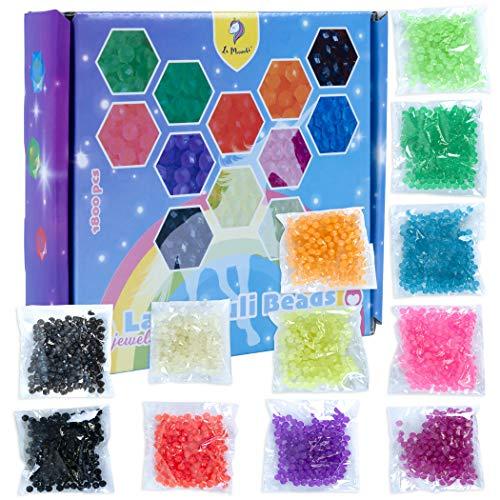 La Manuli Glitzerperlen Nachfüllpack - 1800 Sortiert Wasser Perlen in 12 Farben, Kristallperlen, Wasserperlen Kompatibel mit Andere Marken Pearls (Kristallperlen)