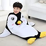 Penguin Tail Blanket for Kids Age 3-12 Years Old Soft All Seasons Sleeping Bag Blanket Premium Quality by Features 3D Hands Feet and Nose Animal Plush Toy 39.4 Inch by 26.4 Inch