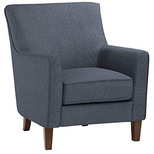 Amazon Brand – Stone & Beam Cheyanne Modern Living Room Accent Arm Chair, 30.7'W, Blue