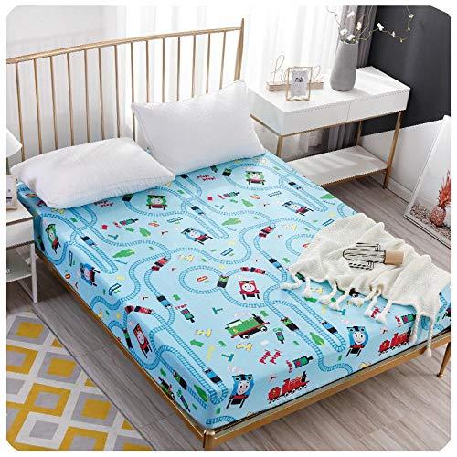 CYYyang Protector de colchón de Rizo algodón y Transpirable Hoja de Cama de Dibujos Animados Paquete Completo de una pieza-18_150 * 200 + 30