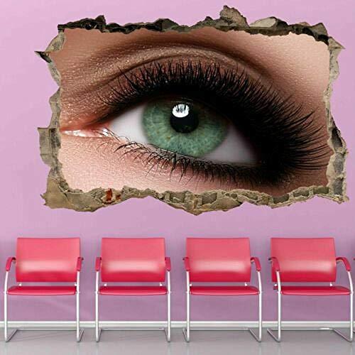 Pegatinas de pared Makeup Long Eyelash Extensions Beauty Salon Wall Art Stickers Mural Decal GP12