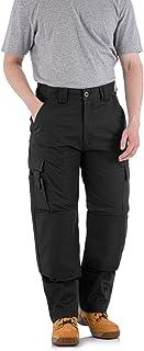 WrightFits Men Falcon Work Trousers - Black & Navy - Heavy Duty Safety Combat Cargo Pants - Cargo & Knee Pads Pockets Trip...