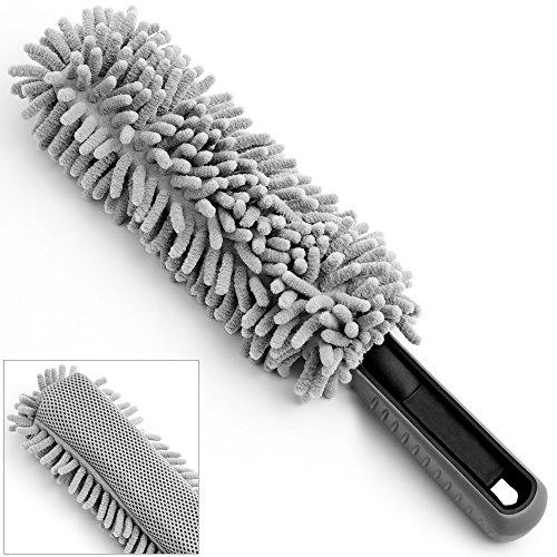 Monzana Felgenbürste aus Mikrofaser mit Soften Borsten schonend & weich für Stahlfelgen Alufelgen Auto Reinigungsbürste