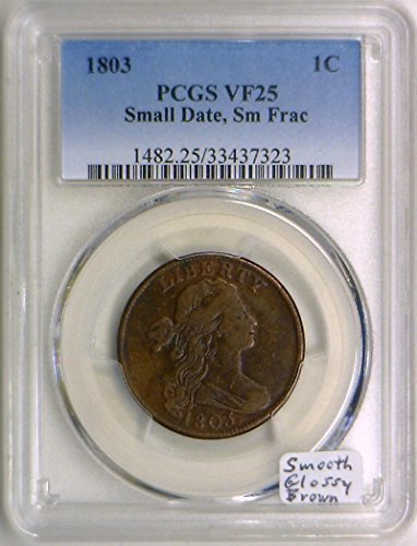 1803 No Mintmark Draped Bust S-254 Cent VF-25 PCGS