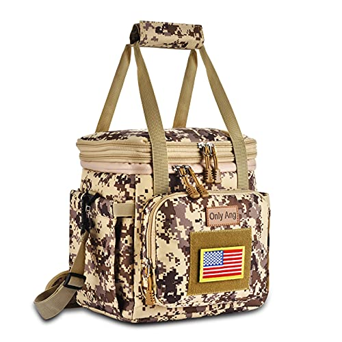 15.5L Tactical Camo Lunch Bag, Large Insulated Lunch Box for...