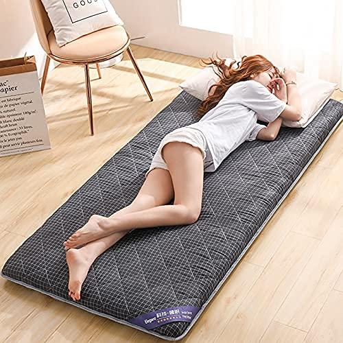 DNGDD Colchón de Suelo japonés para futón, Plegable, Enrollable, Tumbona, sofá Cama, colchoneta Doble para Dormir, colchón Tatami con Respaldo Suave, 90 cm × 200 cm (35 Pulgadas × 78 Pulgadas)