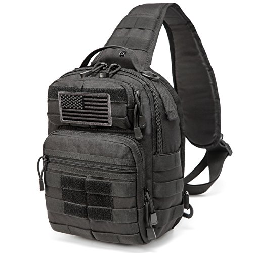 CRAZY ANTS Tactical Sling Bag Rover Molle Pack Shoulder Sling Backpack for Man