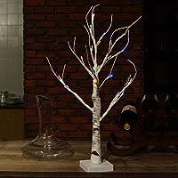 Fashionably: disegno di stile del bonsai, perfetto per la decorazione domestica sulla scrivania o sul tavolo. Luce bianca in legno di betulla da 23.6 pollici impreziosita da 24 luci a LED. Risparmio energetico: le luci LED soddisfano la necessità di ...