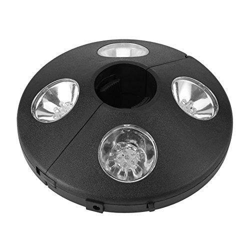Luces para Sombrillas 24 LED, Lámpara LED para sombrilla Luz LED de Parasol Lámparas de Noche Inalámbricos para Paraguas de Jardín Patio Playa Terraza y Piscina