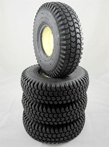 Black Solid Block Innova Mobility Scooter Tyres