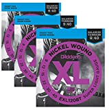 3 Sets   D'addario EXL120BT Balanced Tension Super Light Electric Guitar Strings