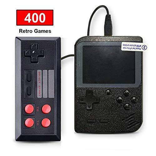 SeeKool Handheld Spielkonsole, 400 Klassische Spielen 3-Zoll-LCD-Bildschirm tragbare Gameboy FC System, Retro-Videospielkonsole Unterstützt TV-Anschluss und Zwei Spielern, Geschenke für Kinder