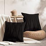 Top Finel Juegos 2 Hogar Cojín Terciopelo Suave Decorativa Almohadas Fundas de Color Sólido para Sala de Estar sofás...