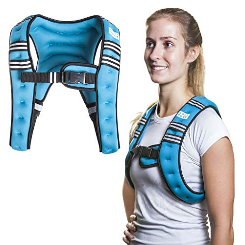 SWEATFLIX Weighted Body Vest for Men & Women: BodyRock Weight Vests for Training, Running, Crossfit or Walking - Fitness Gear &xa0 Workout Equipment - Teal 8 lb Single Vest