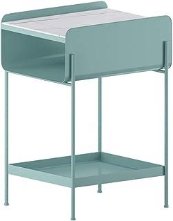 Meubles Modernes Table Basse Table d'appoint Petite Table d'appoint en métal avec Compartiment de Rangement Avant Ouvert T...