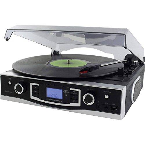 Soundmaster PL525 Tocadiscos Reproductor, con Funcion de grabacion con Radio FM PLL, USB y codificación