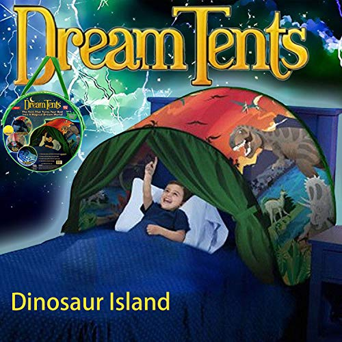 Dream Tents Dinosaur Island for Kids Fun Pop Up Play Tent Foldable Bed Tent Magical Secret Castle Playhouse Birthday for Kids