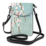 Women Small Cell Phone Purse Crossbody,Freshly Blooming Cherry Blossom Branches With Flower Buds