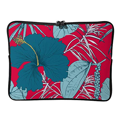 Laptop Bags Palm Leaves Cute Normal Multifunctional Tropical Plants Tablet Briefcase Suitable for Business Trips
