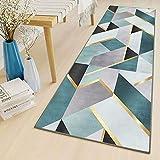LYYK Alfombra Bano alfombras Azul Gris Beige Larga Antideslizante Antimanchas Antiestática alfombras de Entrada de casa para Entrada, salón Dormitorio guardarropa Piano 60x350cm ColorK